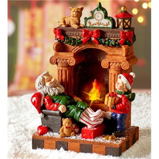 Father Christmas snoozing