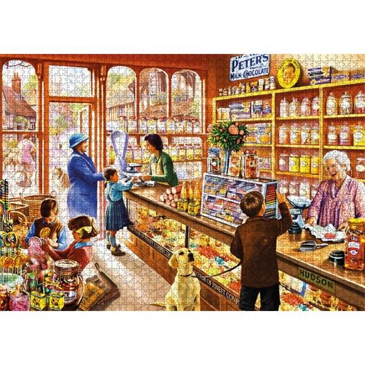 Puzzle 1000 pièces Le magasin de bonbons