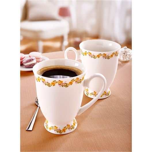 2 floral mugs