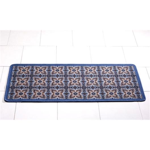 Blue Cement tile mat 50 x 120 cm