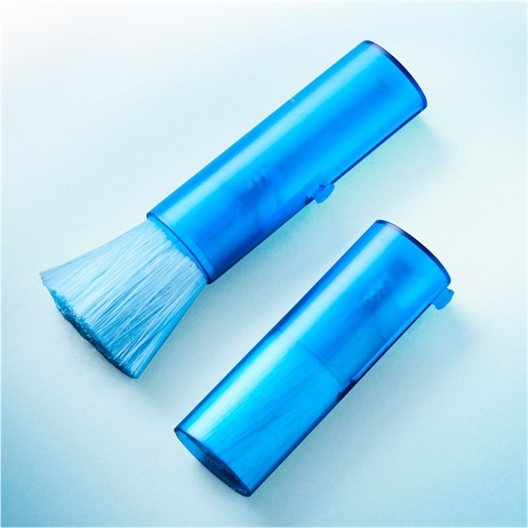 2 blue keyboard brushes