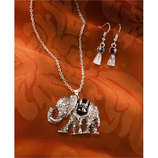 Asian elephant jewellery set