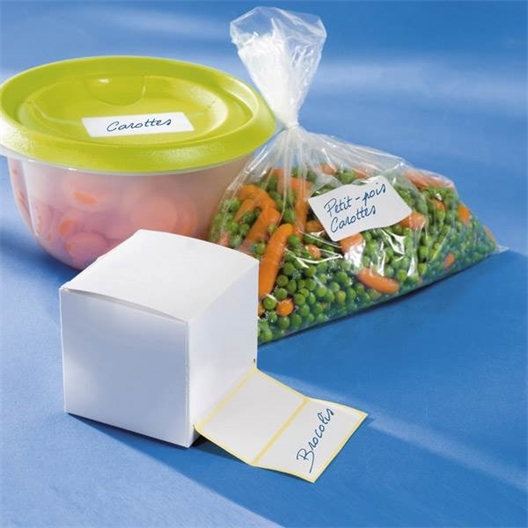 Roll of freezer labels