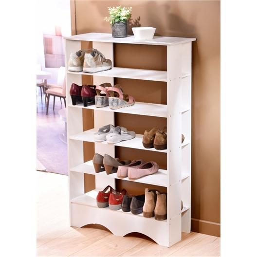 Wit schoenenrek