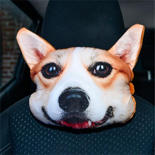 """Appui-tête """"chat"""" ou """"chien"""" pour voiture"""