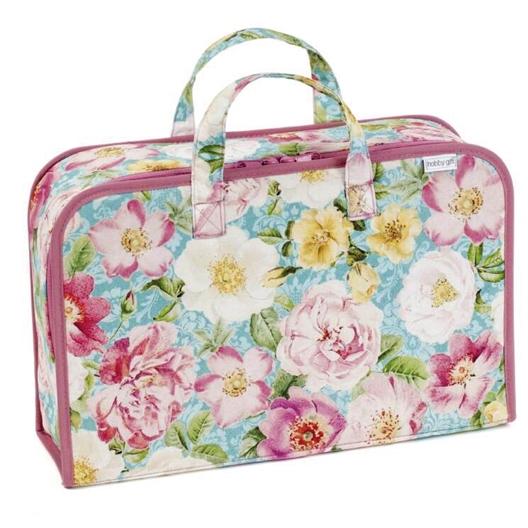 Roses in bloom needlework case