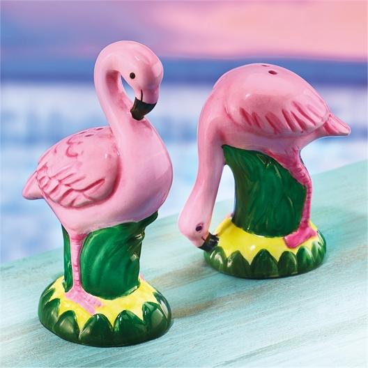 Peper en zout flamingo's