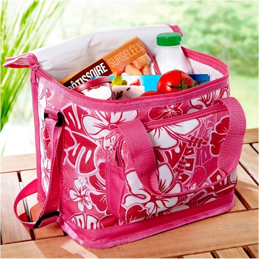 Soft hibiscus cool bag