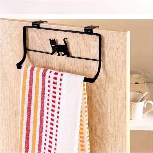 Handdoekhouder met kat