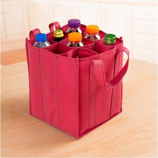 Transporttasche Flaschen, weinrot oder Transporttasche Flaschen, blau oder 2er-set