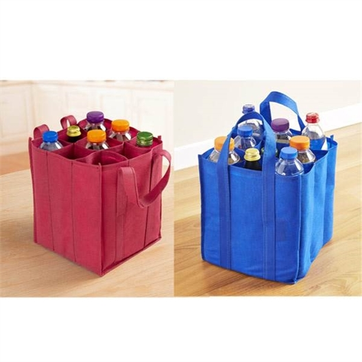 Burgundy bottle bag or Blue bottle bag or set of 2
