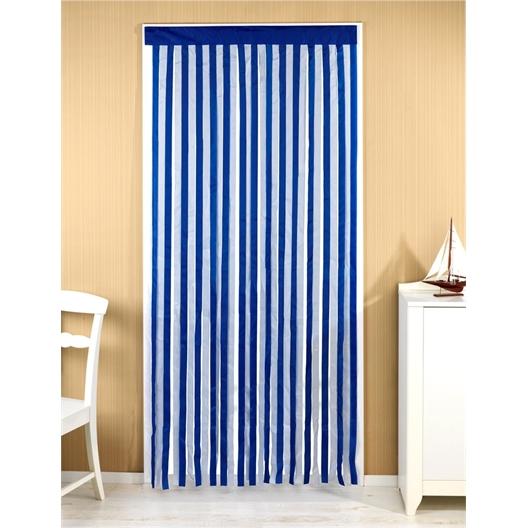 Rideau de porte : Gris/blanc ou Bleu/blanc