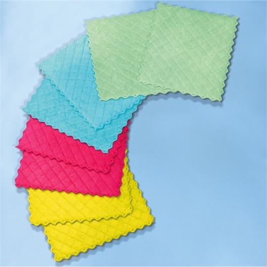 Set van 8 vierkante microvezeldoekjes