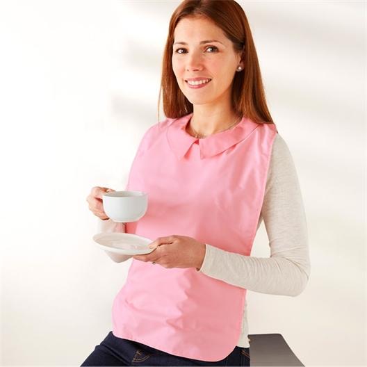 Bavoir col chemise Rose ou Bleu