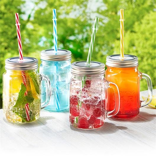4 cocktail jars