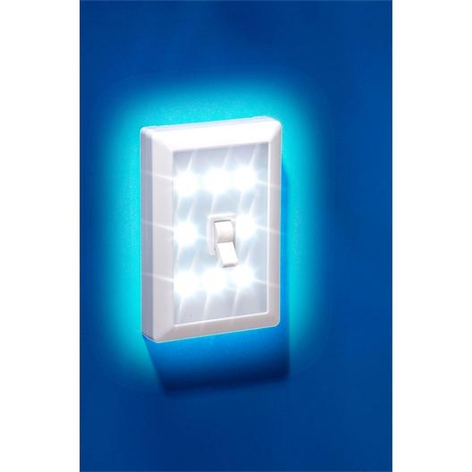 Waaklamp/schakelaar met 8 LED of Set van 2