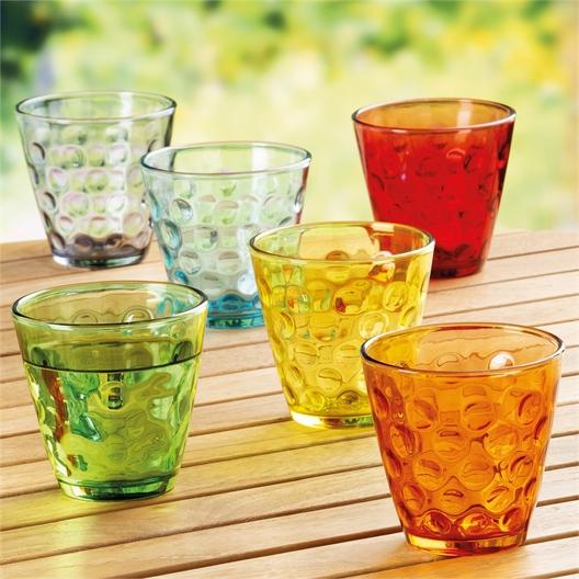 6 bubble glasses