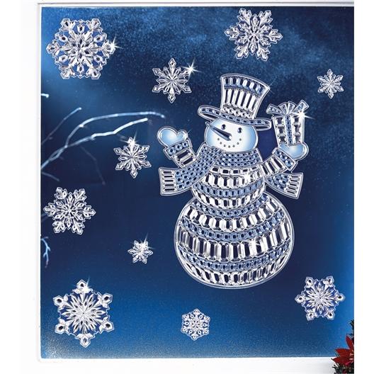 Sticker bonhomme de neige 3D