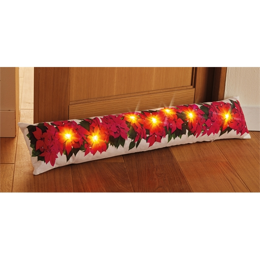 Bas de porte poinsettias LED