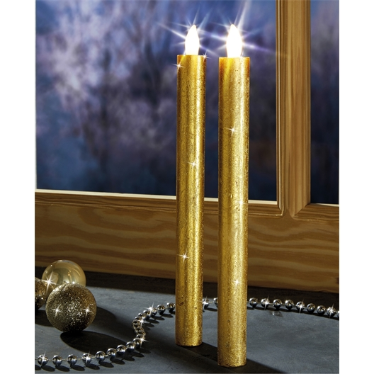 2 goudkleurige kaarsen