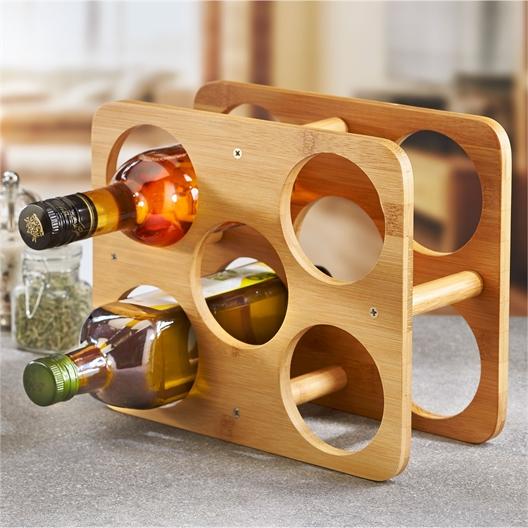 Casier à bouteilles bambou