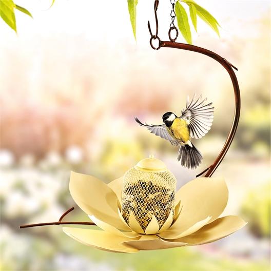 Futterstelle Lotus / Körner- und Getreidemischung für Vögel