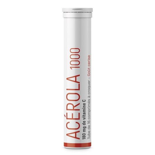 Acérola 1000, tube de 16 comprimés