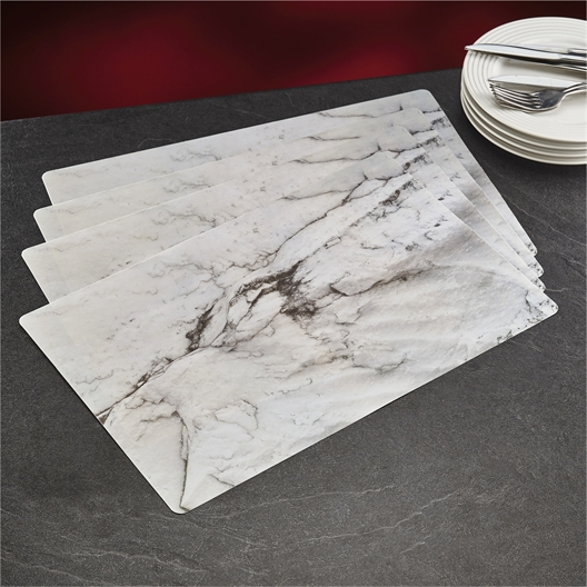 4 marble table mats