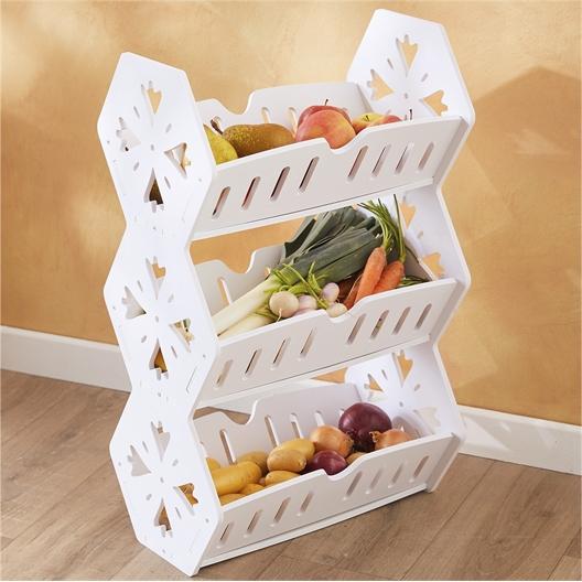 Vorratsregal für Gemüse, weiß