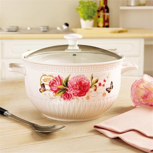 Rose bouquet pot