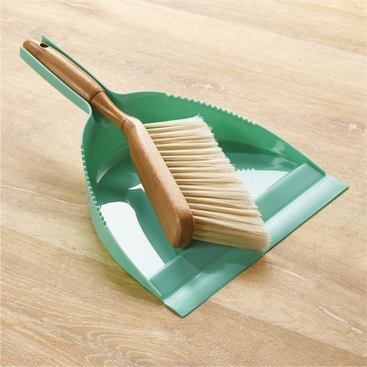 Bamboo brush and dustpan