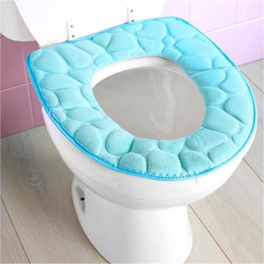 Toiletzitting met vormgeheugen/Keienpatroon