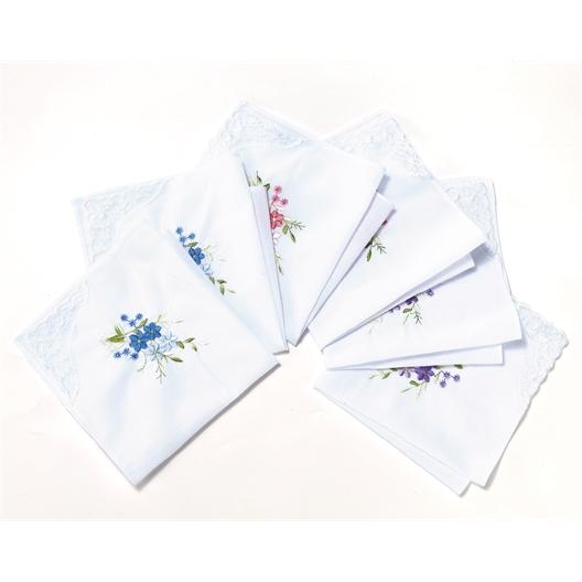 Set van 6 zakdoeken