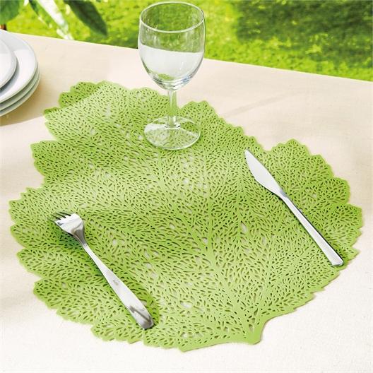 4 Tischsets Blätter