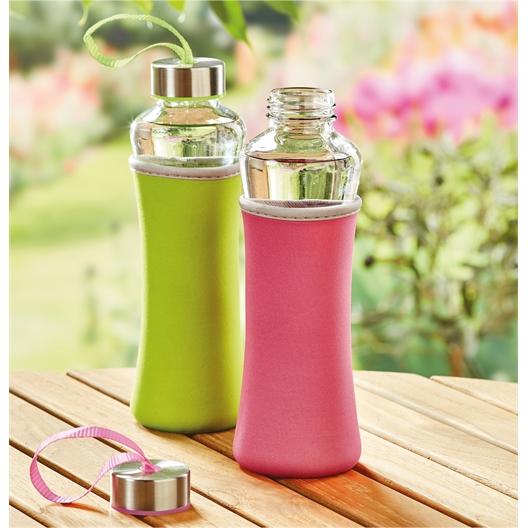Glass and elastomer flask