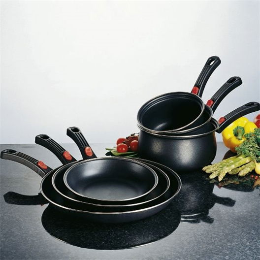 """3 frying pans"" or ""3 saucepans"" or ""3 frying pans + 3 saucepans"""