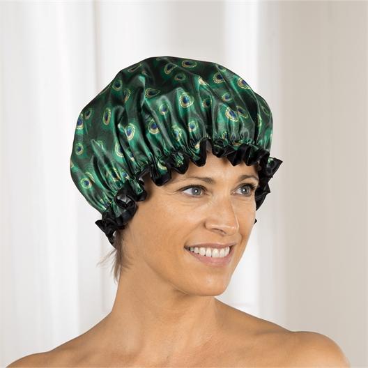Peacock shower cap