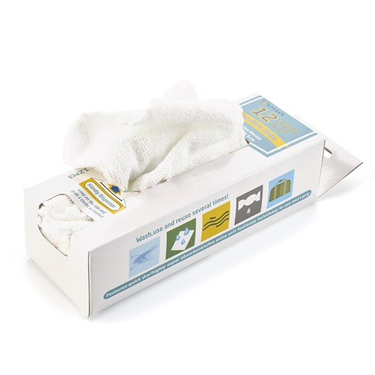 Box of 12 microfibre cloths