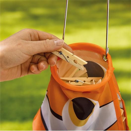 Fish clothes peg bag