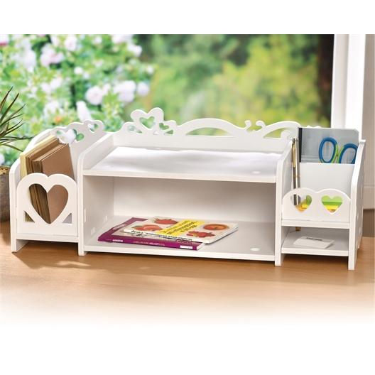 White heart design console table
