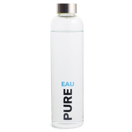 "Eén fles ""Eau Pure"" (+ twee waterzuiveringssticks)"