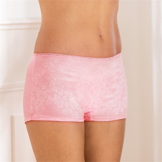 Set of 2 satin panties Set n°2: blue + pink - size M