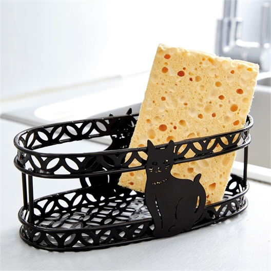 Arabesque cat sponge holder