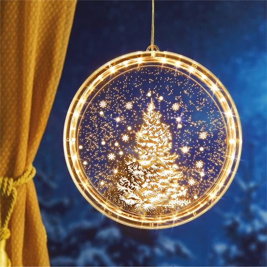 Illuminated gold disc