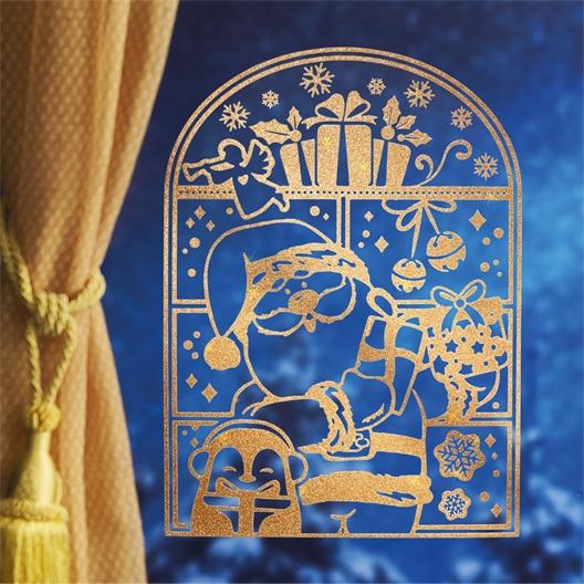 4 stickers dorés