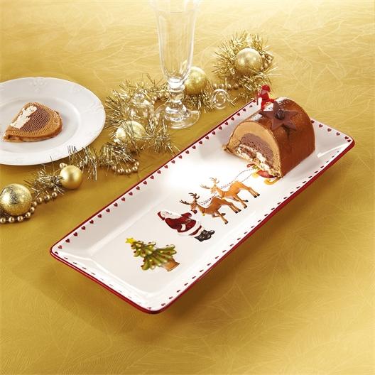 Christmas log plate