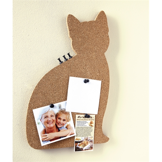 Cork cat memo board