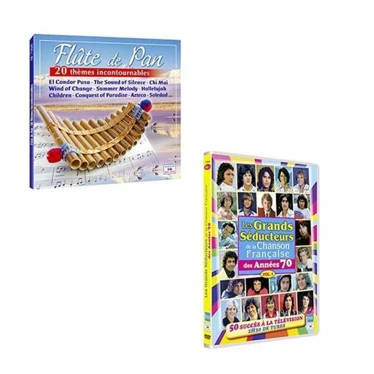 Lot Saint-Amour DVD Séducteurs + CD Flûte de Pan