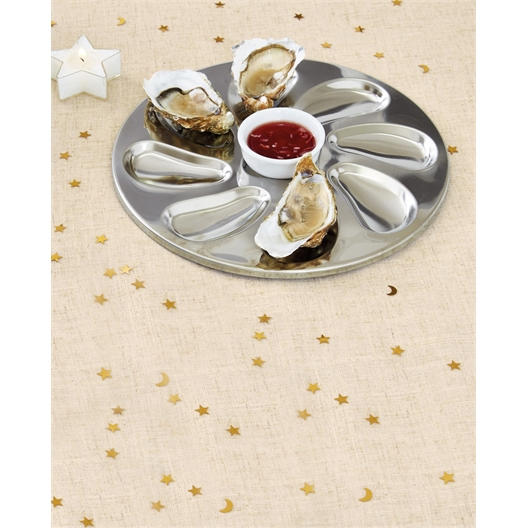 Set of 2 or 4 stainless steel oyster plates