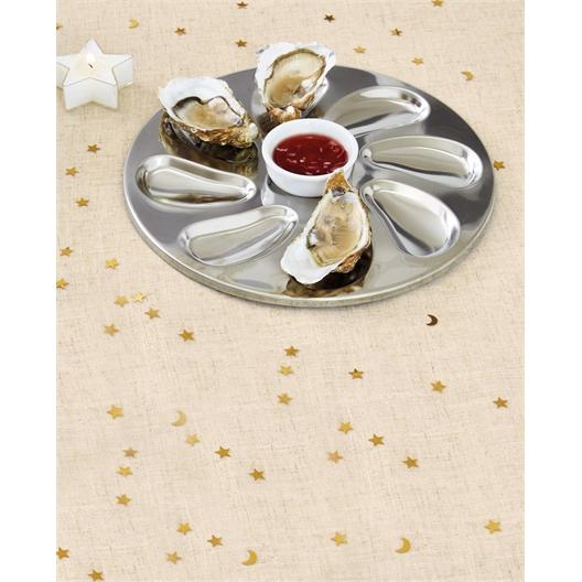 Set van 2 of 4 rvs oesterschotels